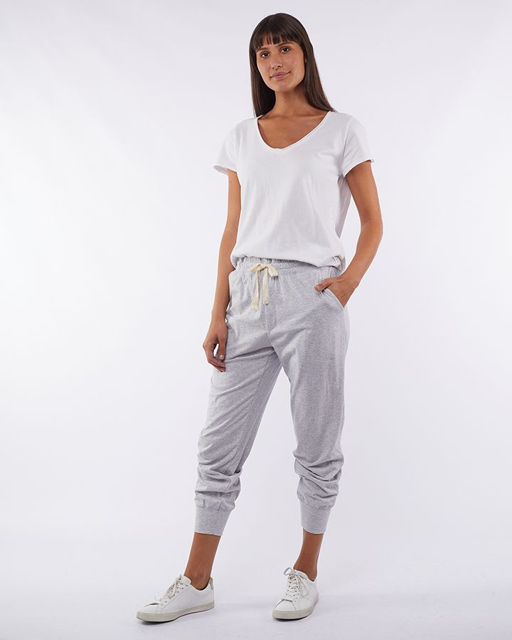 Elm Wash Out Lounge Pant - Grey Marle | Shop Elm at Wallace & Gibb