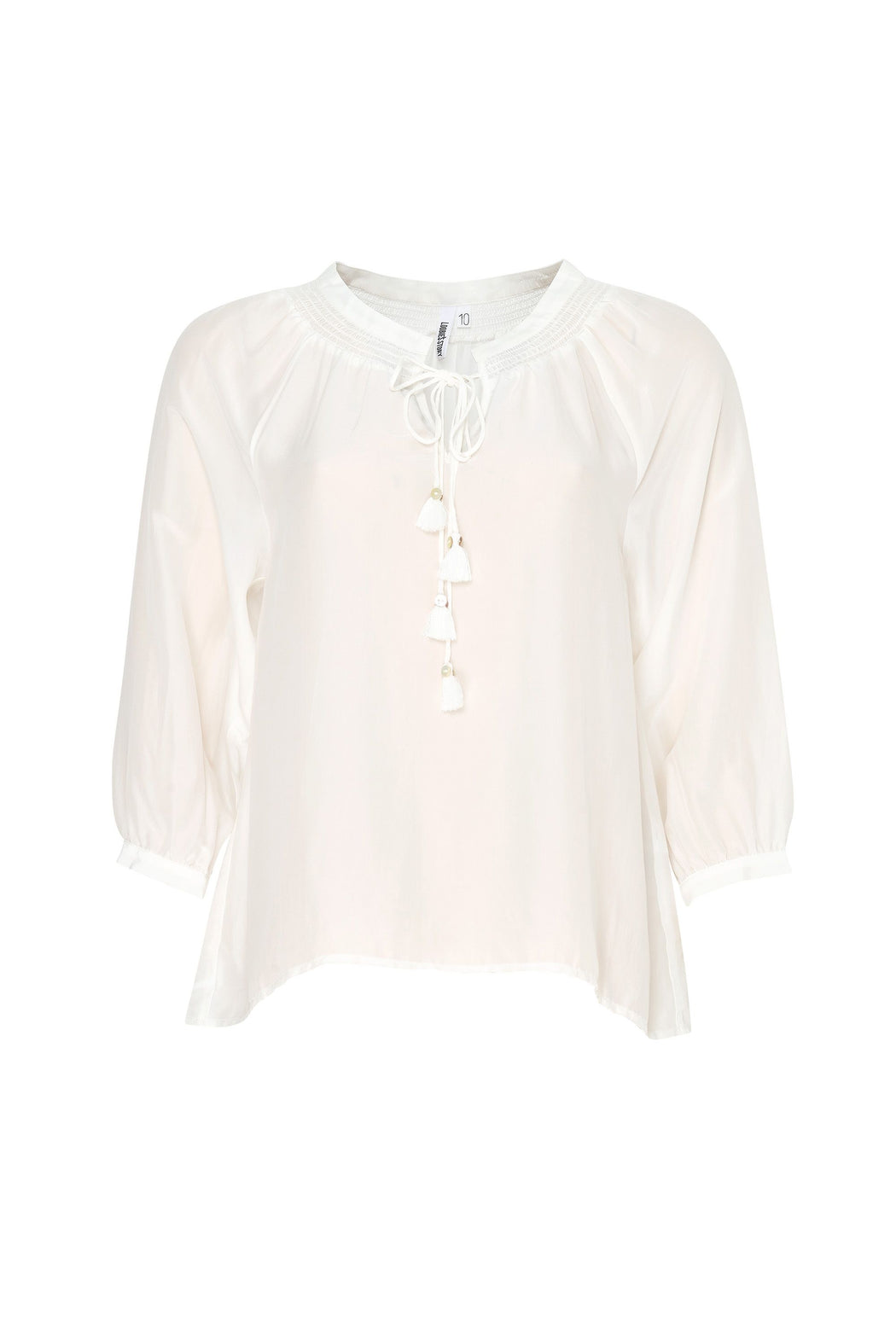 Loobies Story Lani Blouse Silk - White | Shop at Wallace and Gibbs NZ