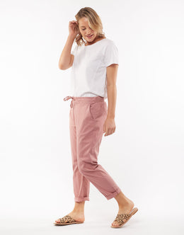Elm Adelyn Chino Pant - Pink | Shop Elm at Wallace & Gibbs NZ