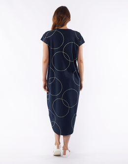 Elm Gisele Dress - Navy | Shop Elm at Wallace & Gibbs NZ