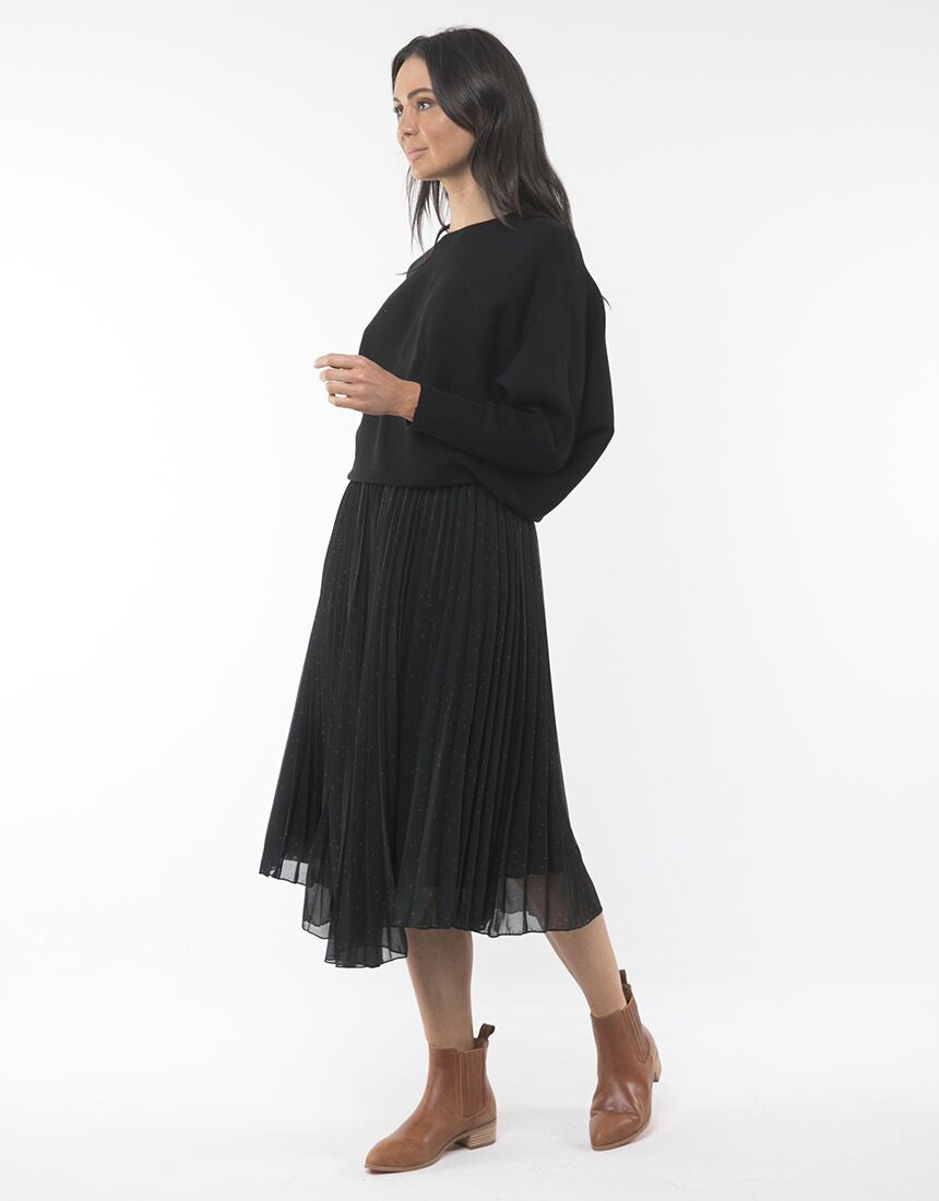 Foxwood Ruby Pleated Midi Skirt | Shop Foxwood Wallace & Gibbs NZ