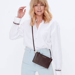 Saben Tilly Crossbody Cocoa | Shop Saben at Wallace & Gibbs NZ