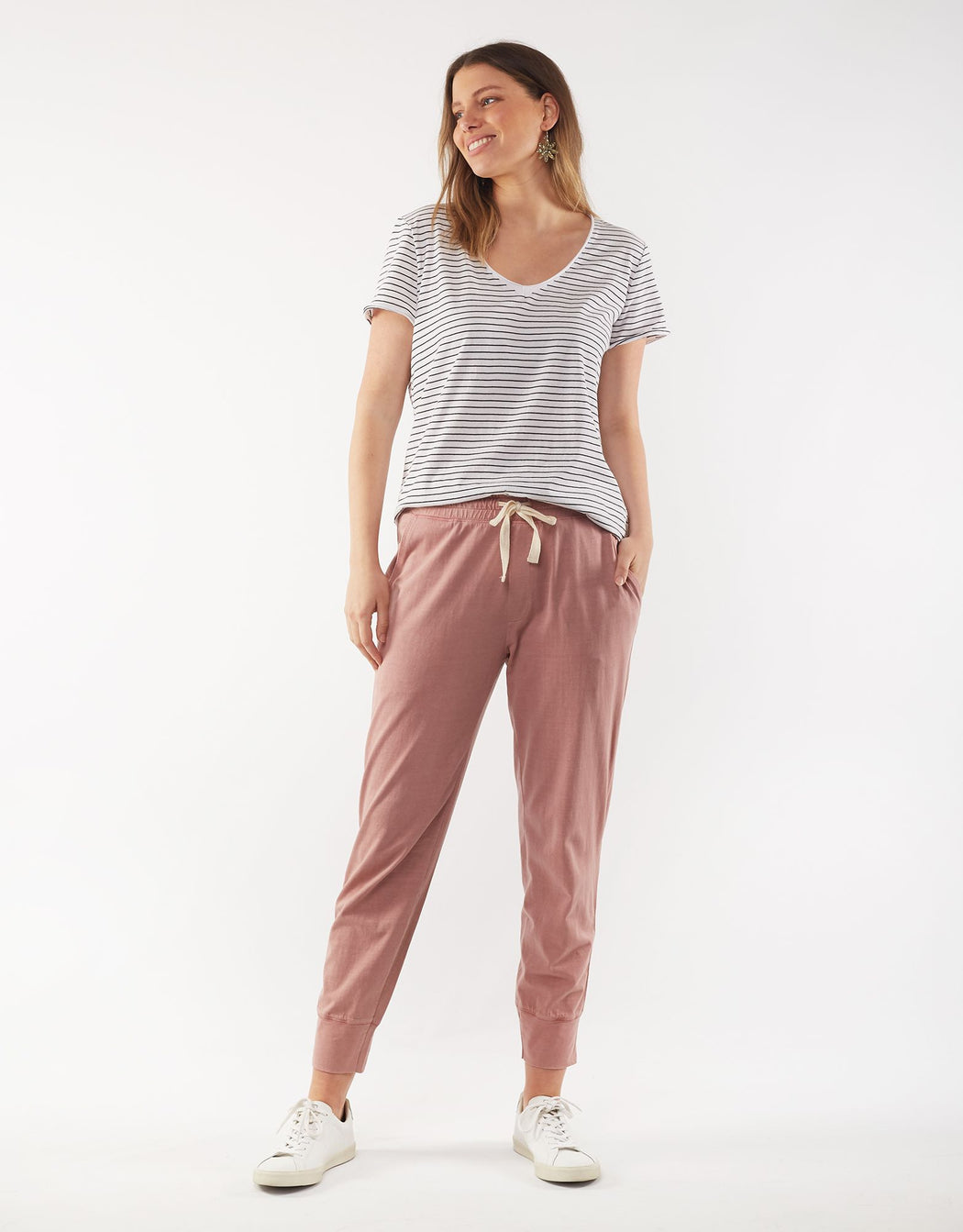 Elm Wash Out Lounge Pant - Rose | Shop Elm at Wallace & Gibb