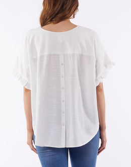Elm Hazel Top - White | Shop Elm at Wallace & Gibbs NZ