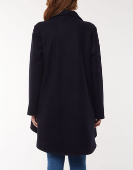 Elm Agnus Coat - Navy | Shop Elm at Wallace & Gibbs NZ