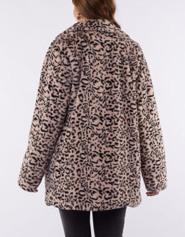 Elm Paris Fur Coat - Pink | Shop Elm at Wallace & Gibbs NZ