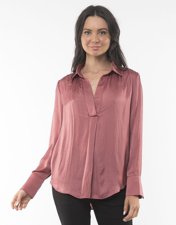 Foxwood Ulla Shirt Pink | Shop Foxwood Wallace & Gibbs NZ
