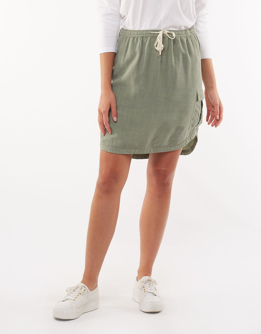 Foxwood Upstate Cargo Skirt - Khaki | Shop Foxwood Wallace & Gibbs NZ