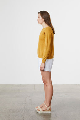 Standard Issue Eyelet Jumper - Sunny | Shop at Wallace & Gibbs NZ