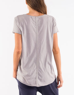 Elm Fundamental Vee Tee - Grey Marle