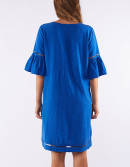 Elm Elena Dress - Blue | Shop Elm at Wallace & Gibbs NZ