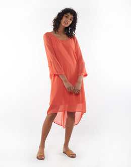 Elm Margo Dress - Melon | Shop Elm at Wallace & Gibbs NZ