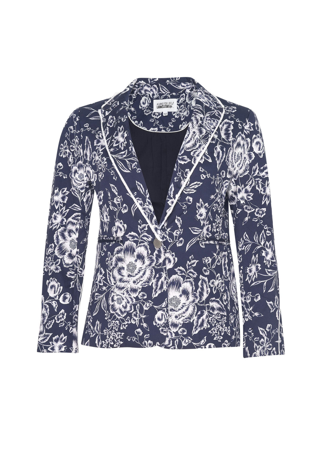 Loobies Story Rosa Jacket -Indigo Multi | Shop at Wallace and Gibbs NZ