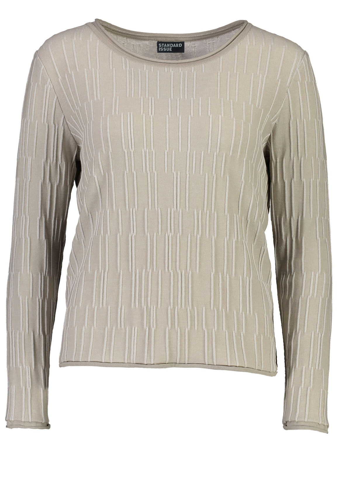 Standard Issue Terrace Sweater - Pebble/White
