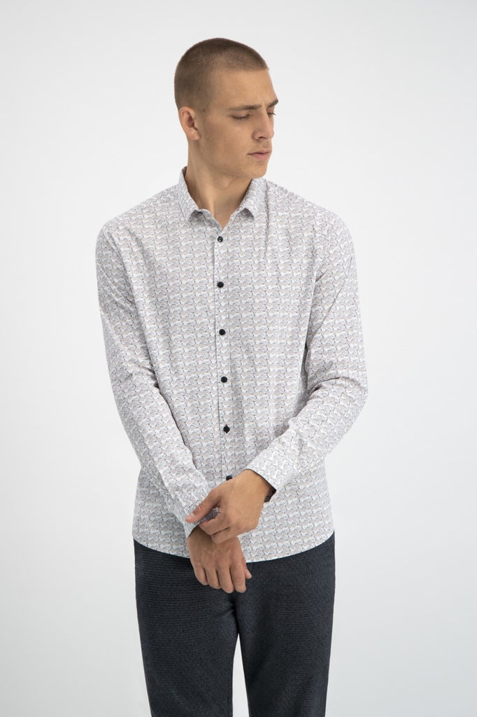 Mens Shirt BD Graphic Moped LS | Shop Dstrezzed at Wallace and Gibbs