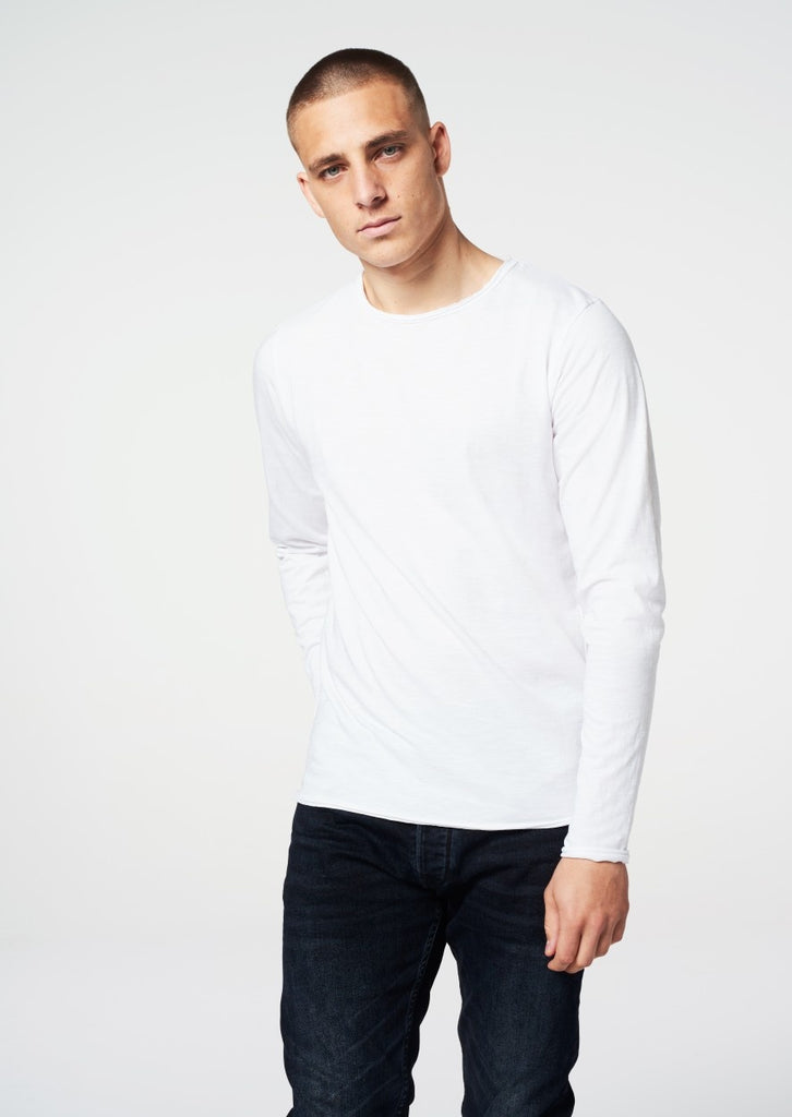 Mens Round Neck Slub LS T-Shirt | Shop Dstrezzed at Wallace and Gibbs