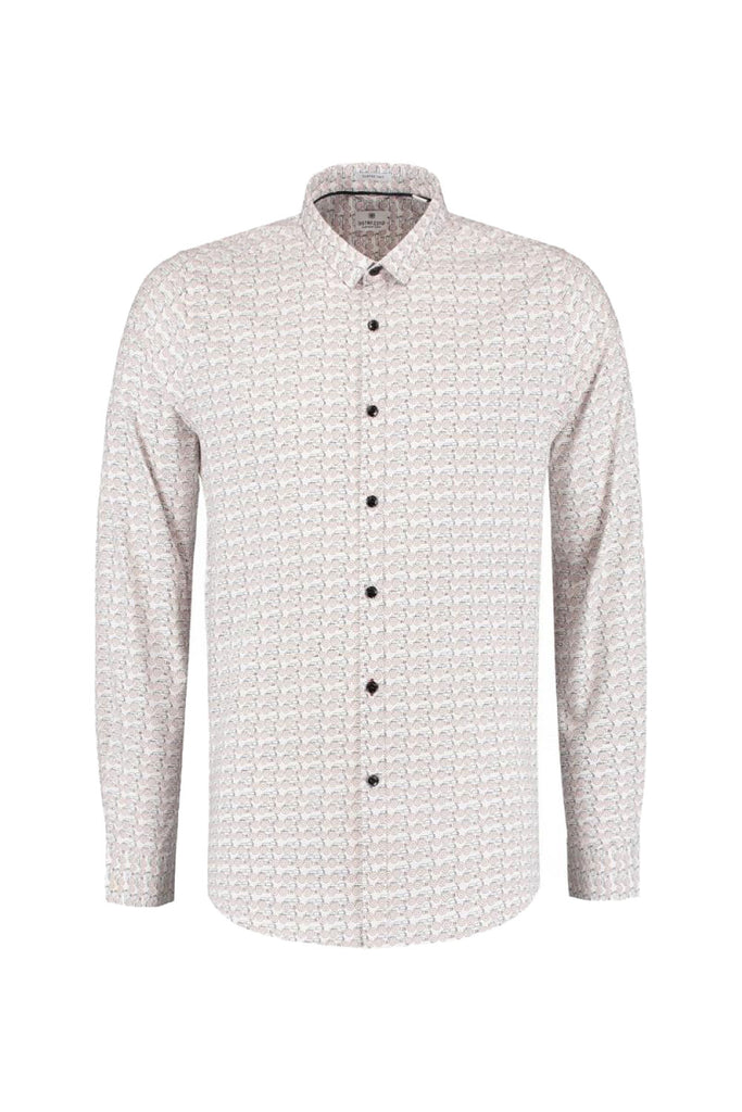 Mens Shirt BD Graphic Moped LS - White