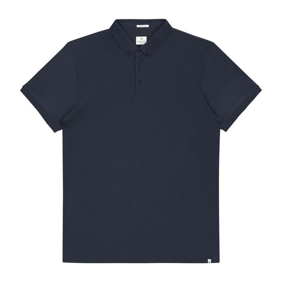 Mens Honeycomb S/S Polo - Navy