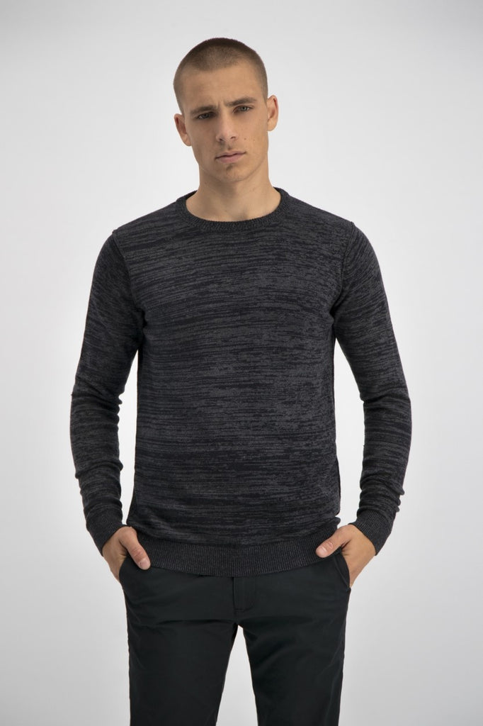 Mens Crew-Neck Earth -Dark Grey | Shop Dstrezzed at Wallace and Gibbs