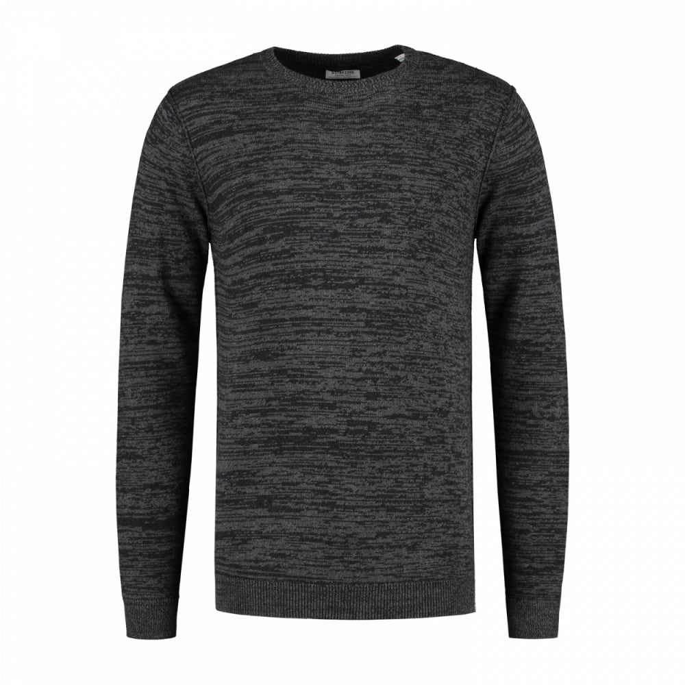 Mens Crew-Neck Earth Long Sleeve - Dark Grey