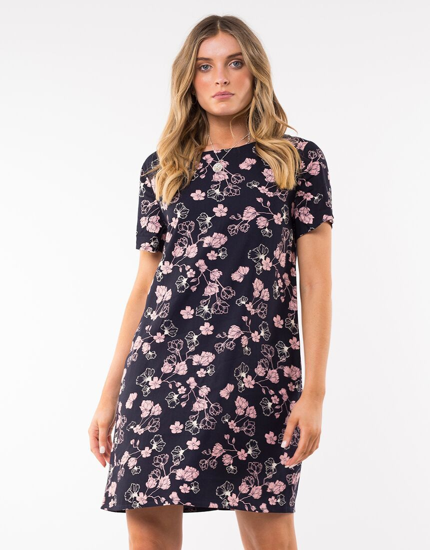 Riveria Floral Shift Dress