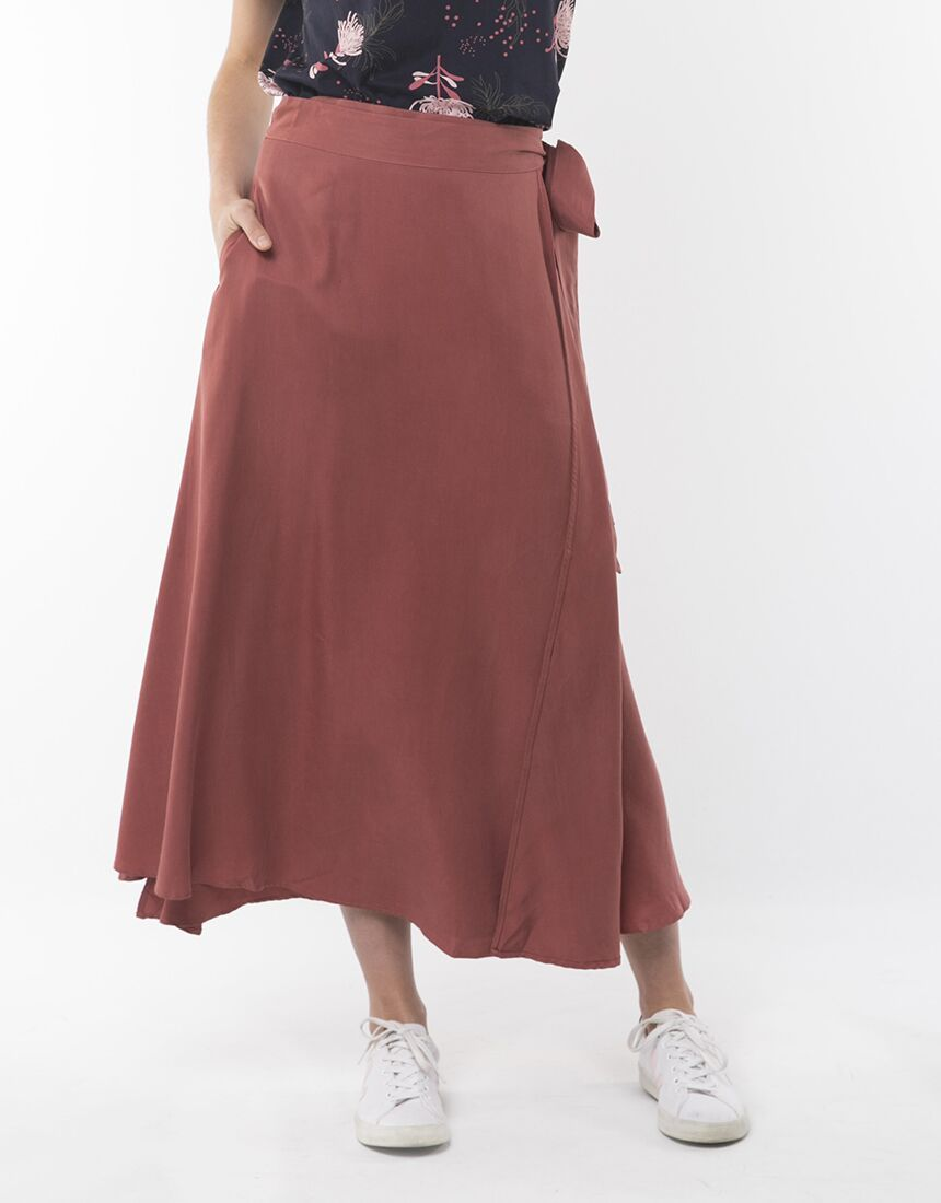 Elm Banksia Skirt Terracotta | Shop Elm at Wallace & Gibbs NZ