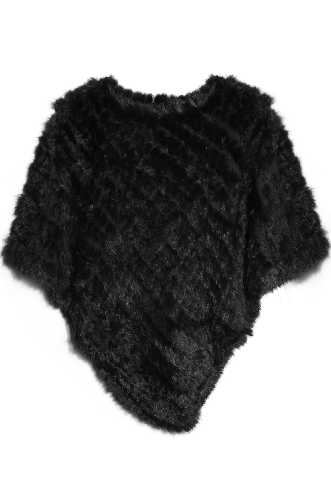 Rabbit Fur Poncho - Black | Shop Alice & Lily at Wallace and Gibbs NZ