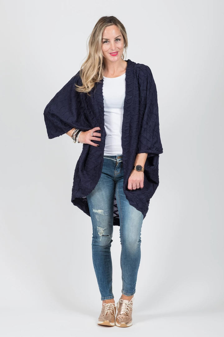 White Chalk Regan Cardi Navy