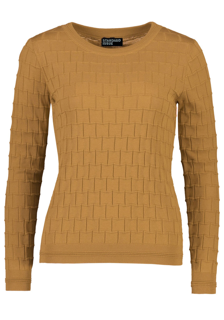Standard Issue Brick Texture Sweater - Caramel