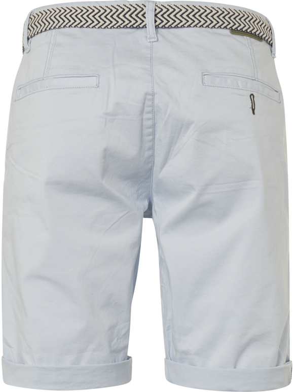 Mens Shorts with Belt - Office Blue
