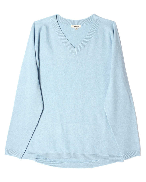 V-Neck Sweater - Sky Blue