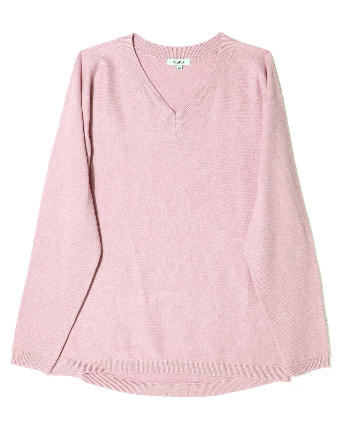 V-Neck Sweater - Pink Calico