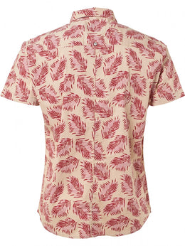 Mens Short Sleeve Shirt - Old Pink