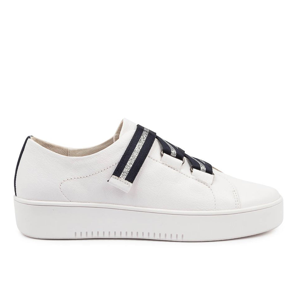 Mollini Lafay - White/Navy/Silver | Shop Mollini at Wallace and Gibbs