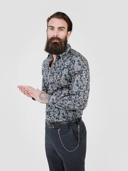 Terra Paisley LS Shirt | Shop Pearly King at Wallace and Gibbs NZ
