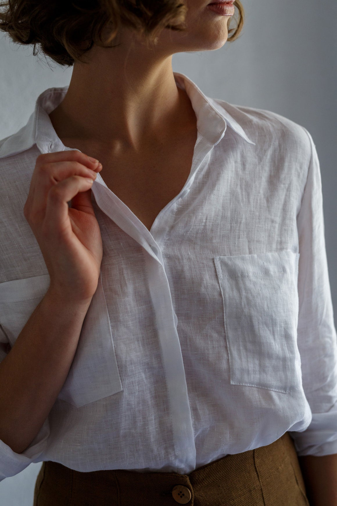 Utility Shirt White | Buy Kristin Magrit in NZ at Wallace and Gibbs