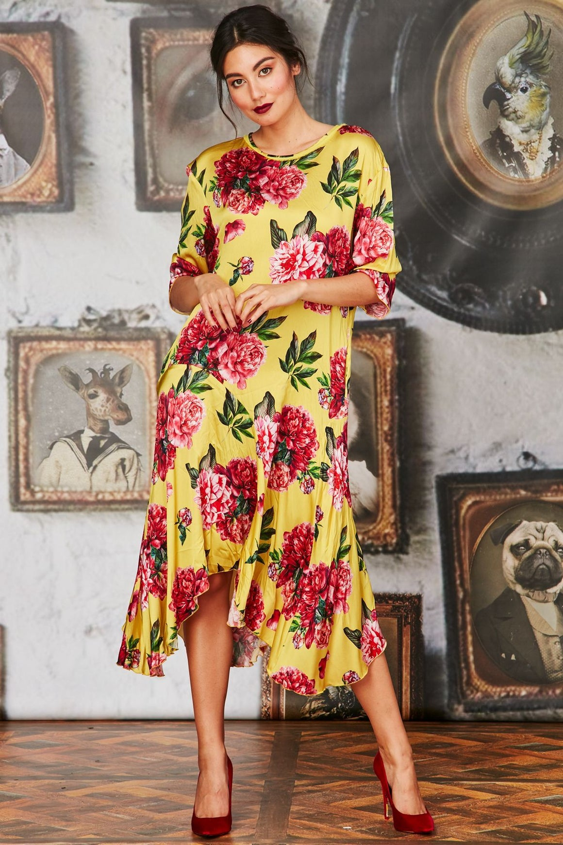 Curate Forever Long Dress Yellow | Shop Curate at Wallace & Gibbs