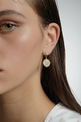Karen Walker Voyager Earrings - Silver | Shop at Wallace and Gibbs NZ
