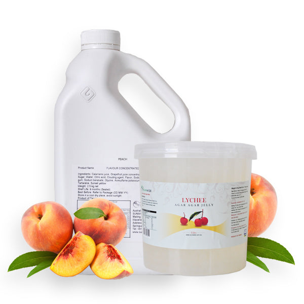 Peach Lychee Drink - DIY Set - Sunwide Bubble Tea