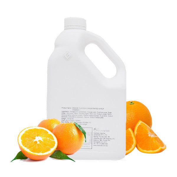 Orange Concentrated Syrup with orange pieces 2.5kg
