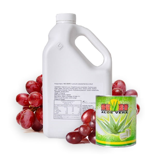 Red Grape Aloe Vera Drink - DIY Set