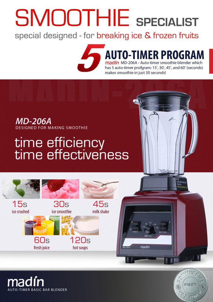 Load image into Gallery viewer, Auto-timer Smoothie Blender | 206A - Sunwide Bubble Tea