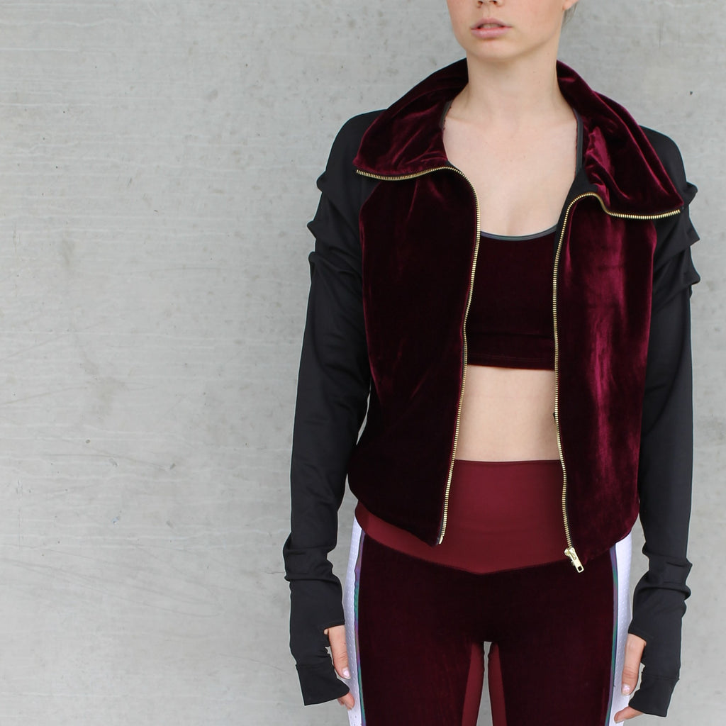 Copy of Merlot Velvet | Embrace Me Jacket