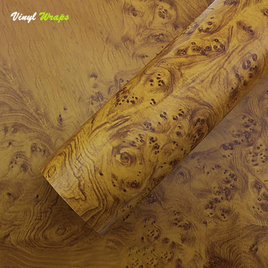 Mustard Wood Grain Vinyl Wrap