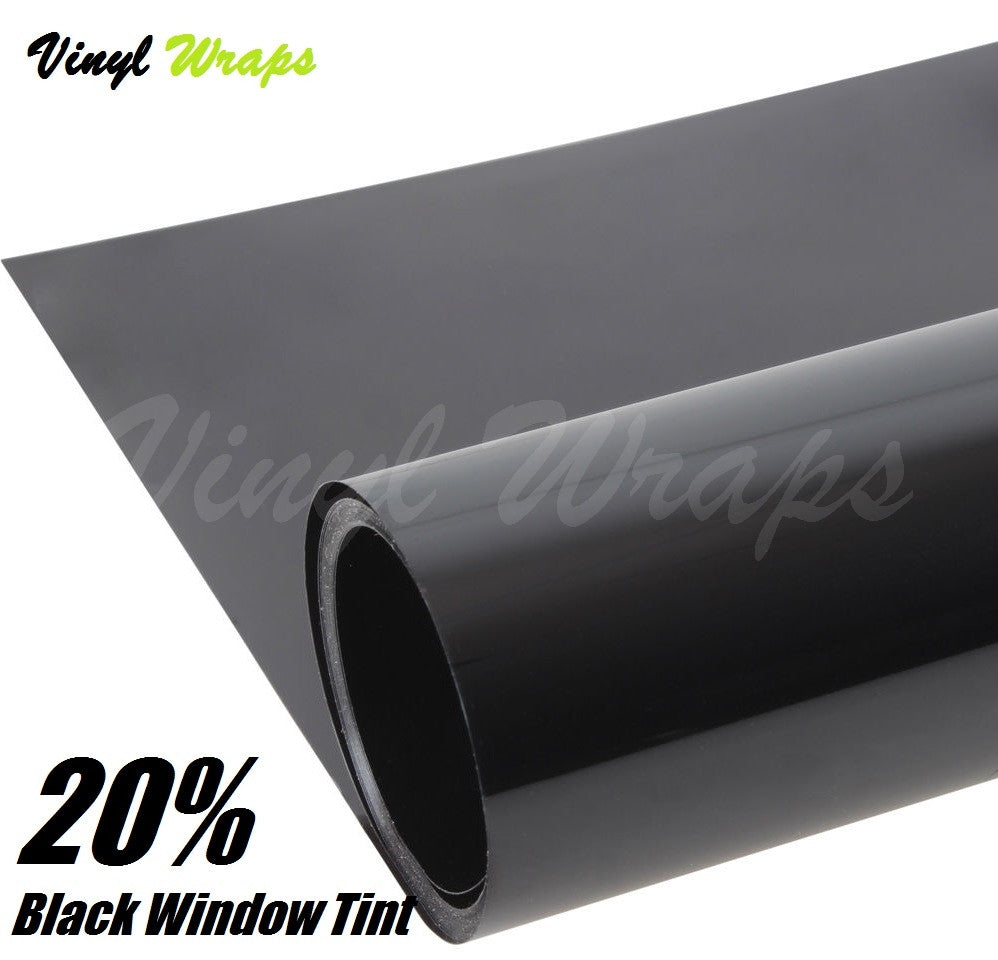 20% Black Window Tint Film