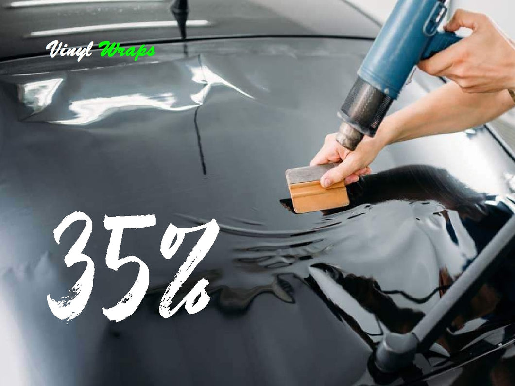 35% 75CM x 3M Black, Car Window Tint With Install Tools Included
