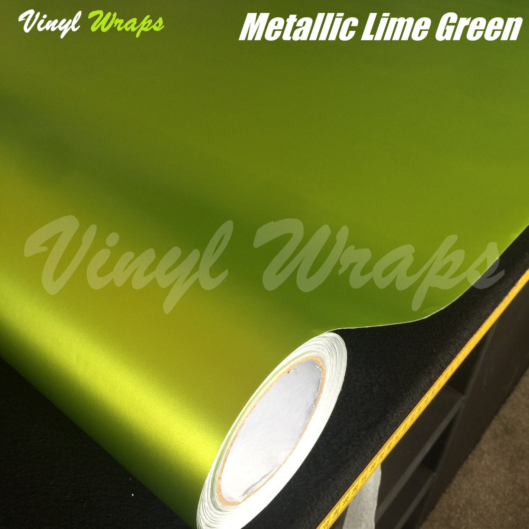 Metallic Lime Green Vinyl Wrap