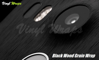 Black Wood Grain Vinyl Wrap