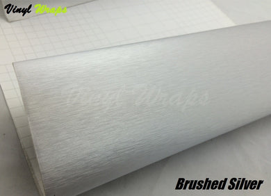 Brushed Silver Vinyl Wrap