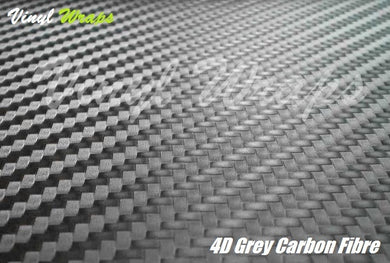 4D Grey Carbon Fibre Vinyl